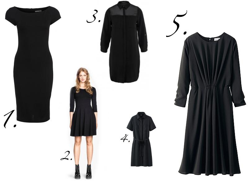Классные платья черные
